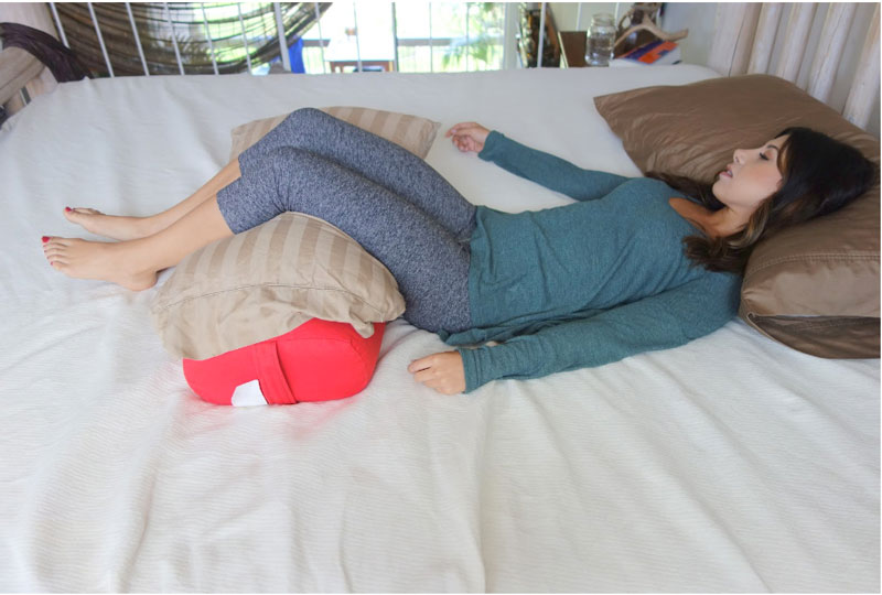 Back Sleeping with Yoga Bolster
