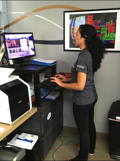 Stand up desk for improved posture