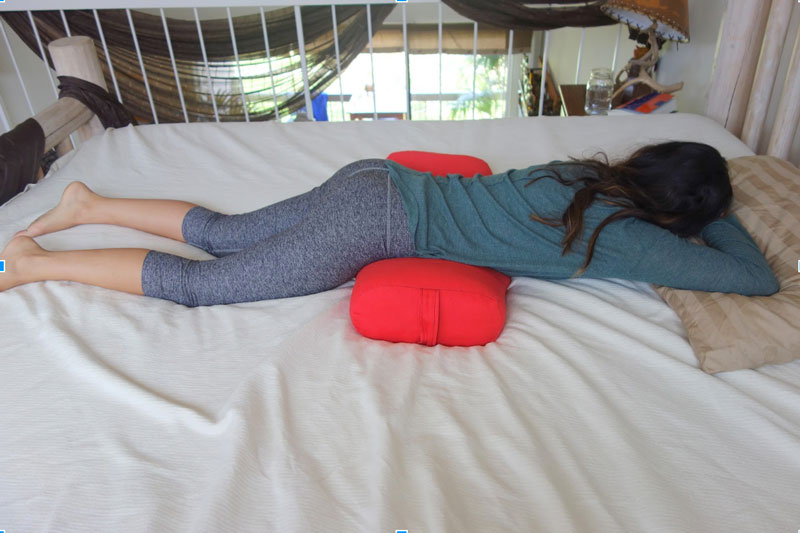 Stomach Sleeping with Yoga Bolster